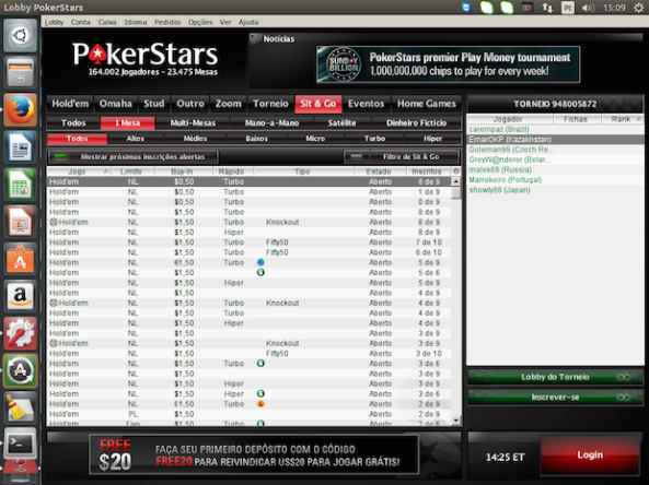 Pokerstars Linux